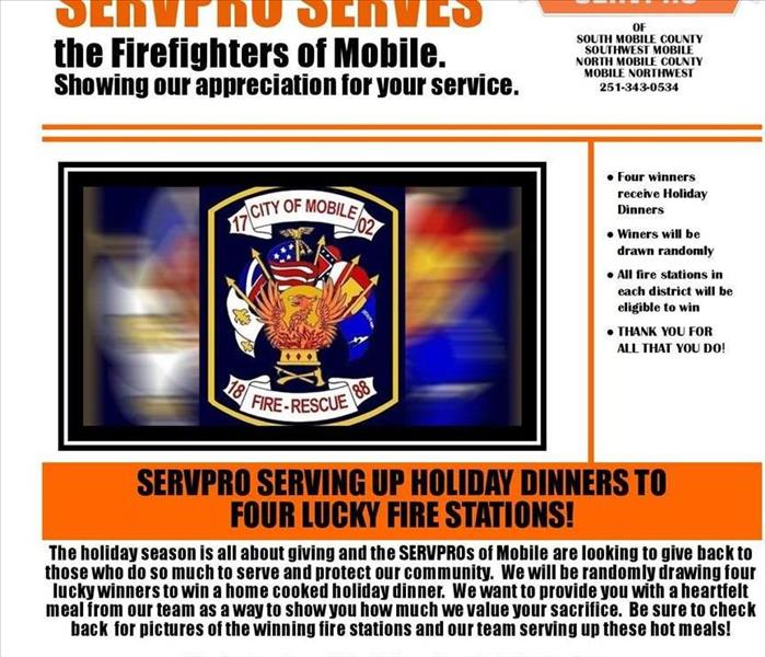 SERVPRO SERVES the Firefighters of Mobile